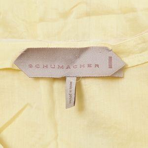 Schumacher Tops - Schumacher – Yellow Lightweight Cotton Top – S